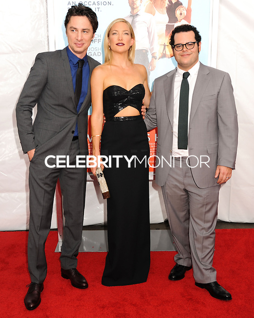 NEW YORK CITY, NY, USA - JULY 14: Zach Braff, Kate Hudson, Josh Gad at the New York Screening Of Focus Features' 'Wish I Was Here' held at the AMC Lincoln Square Theater on July 14, 2014 in New York City, New York, United States. (Photo by Celebrity Monitor)