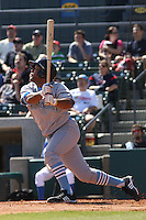 Jason Taylor #35 of the Wilmington Blue Rocks hitting against the Myrtle Beach Pelicans on April 11, 2010  in Myrtle Beach, SC.
