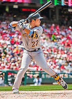 21 June 2015: Pittsburgh Pirates third baseman Jung Ho Kang in action against the Washington Nationals at Nationals Park in Washington, DC. The Nationals defeated the Pirates 9-2 to sweep their 3-game weekend series, and improve their record to 37-33. Mandatory Credit: Ed Wolfstein Photo *** RAW (NEF) Image File Available ***