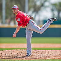 29 February 2016: Washington Nationals pitcher Aaron Laffey on the mound during an inter-squad pre-season Spring Training game at Space Coast Stadium in Viera, Florida. Mandatory Credit: Ed Wolfstein Photo *** RAW (NEF) Image File Available ***
