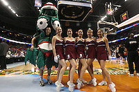 6 April 2008: Stanford Cardinal Dollies and the Tree during Stanford's 82-73 win against the Connecticut Huskies in the 2008 NCAA Division I Women's Basketball Final Four semifinal game at the St. Pete Times Forum Arena in Tampa Bay, FL.