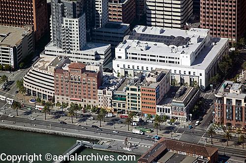 aerial photograph of One Rincon Plaza, The Embarcadero, San Francisco waterfront, California