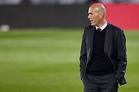6th April 2021, Alfredo Di Stefano Stadium, Madrid, Spain; UEFA Champipons League football quarterfinl, Real Madrid versus Liverpool;  Real Madrid coach Zinedine Zidane