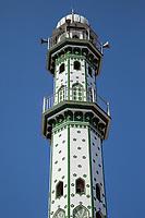 India, Dehradun.  Minaret of Mosque in Central Dehradun.