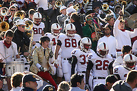 2 December 2006: Erik Lorig, Josh Catron, Bobby Dockter, Jason Evans, and Anthony Kimble during Stanford's 26-17 loss to Cal in the 109th Big Game at Memorial Stadium in Berkeley, CA.