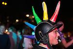 "© Joel Goodman - 07973 332324 . 22/08/2014 .  Manchester , UK . Interesting head wear on display . Manchester Pride "" Big Weekend "" in Manchester's "" Gay Village "" today ( 22nd August 2014 ) . Photo credit : Joel Goodman"