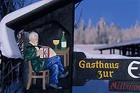 Europe/Allemagne/Forêt Noire/Env de Hinterzarten : Enseigne d'une auberge