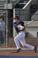 University of Virginia Cavaliers infielder Nick Howard #33 at bat during a game against the University of Kentucky Wildcats at Brooks Field on the campus of the University of North Carolina at Wilmington on February 14, 2014 in Wilmington, North Carolina. Kentucky defeated Virginia by the score of 8-3. (Robert Gurganus/Four Seam Images)