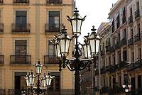 Spanien, Barcelona,Laterne an der Placa de Sant Jaume