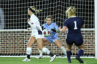 CHAPEL HILL, NC - NOVEMBER 16: Lily Herman #1 of Belmont University makes a save during a game between Belmont and North Carolina at UNC Soccer and Lacrosse Stadium on November 16, 2019 in Chapel Hill, North Carolina.