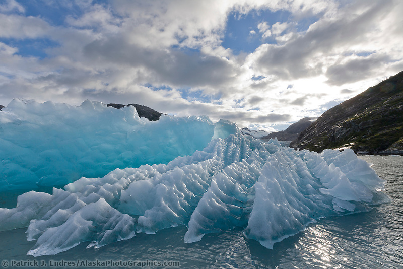 Glacier in Icebergs in Nellie Juan Lagoon, Prince William Sound, southcentral, Alaska.