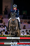 Vincent Bartin of France riding Caramba du Ruisseau Z competes in the Masters One DBS during the Longines Masters of Hong Kong at AsiaWorld-Expo on 11 February 2018, in Hong Kong, Hong Kong. Photo by Ian Walton / Power Sport Images