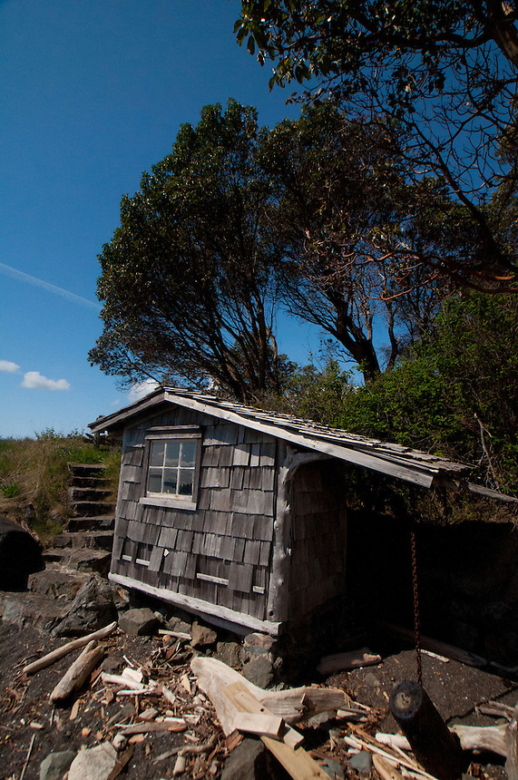 Boat House, Yellow Island, San Juan Islands, Washington, US