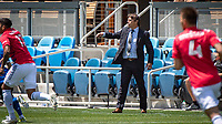 SAN JOSE, CA - APRIL 24: Matias Almeyda Head Coach of the San Jose Earthquakes give the players directions during a game between FC Dallas and San Jose Earthquakes at PayPal Park on April 24, 2021 in San Jose, California.