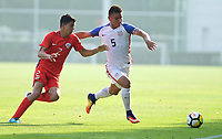 Portland, OR - Wednesday August 09, 2017: Arturo Vasquez during friendly match between the USMNT U17's and Chile u17's at Nike World Headquarters in Portland, OR.