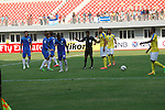 Yadanarbon vs Pahang FA during the 2015 AFC Cup 2015 Group G match on February 25, 2015 at the Mandalar Thiri Stadium in Mandalay, Myanmar. Photo by Stringer / World Sport Group