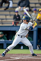 Michigan Wolverines outfielder Jesse Franklin (7) at bat in the NCAA baseball game against the Michigan State Spartans on May 7, 2019 at Ray Fisher Stadium in Ann Arbor, Michigan. Michigan defeated Michigan State 7-0. (Andrew Woolley/Four Seam Images)