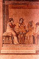 Roman Art:  Mosaic--Actors in Tragedy.  National Museum, Naples.