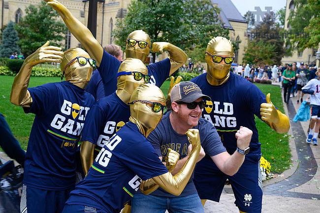 September 28, 2019; Gold Gang on a gameday Saturday (Photo by Matt Cashore)