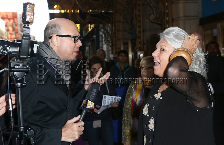 Richard Ridge and Tyne Daly attends the Broadway Opening Night Performance of 'The Curious Incident of the Dog in the Night-Time'  at the Barrymore Theatre on October 5, 2014 in New York City.