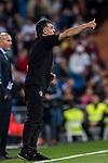Coach Jose Lui Mendilibar Etxebarria of SD Eibar reacts during the La Liga 2017-18 match between Real Madrid and SD Eibar at Estadio Santiago Bernabeu on 22 October 2017 in Madrid, Spain. Photo by Diego Gonzalez / Power Sport Images