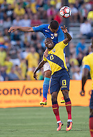 action photo during the match Brasil vs Ecuador, at Rose Bowl Stadium Copa America Centenario 2016. ---Foto  de accion durante el partido Brasil vs Ecuador, En el Estadio Rose Bowl, Partido Correspondiante al Grupo -B-  de la Copa America Centenario USA 2016, en la foto: (I)-(D) Casemiro, Enner Valencia<br /> --- 04/06/2016/MEXSPORT/ David Leah.