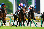 FUCHU,JAPAN-MAY 27: Wagnerian #17,ridden by Yuichi Fukunaga,wins the Tokyo Yushun (Japanese Derby) at Tokyo Racecourse on May 27,2018 in Fuchu,Tokyo,Japan (Photo by Kaz Ishida/Eclipse Sportswire/Getty Images)