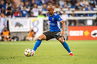 SAN JOSE, CA - SEPTEMBER 4: Judson #93 of the San Jose Earthquakes dribbles the ball during a game between Colorado Rapids and San Jose Earthquakes at PayPal Park on September 4, 2021 in San Jose, California.