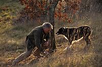 Europe/France/Limousin/19/Corrèze/Pays de Brive/Env Brive-la-Gaillarde: Recherche des truffes