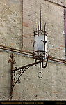 Spiked Medieval Lantern and Rein-Ring, Piazza del Campo, Siena, Italy
