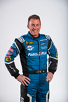 Feb 5, 2020; Pomona, CA, USA; NHRA top fuel driver Clay Millican poses for a portrait during NHRA Media Day at the Pomona Fairplex. Mandatory Credit: Mark J. Rebilas-USA TODAY Sports