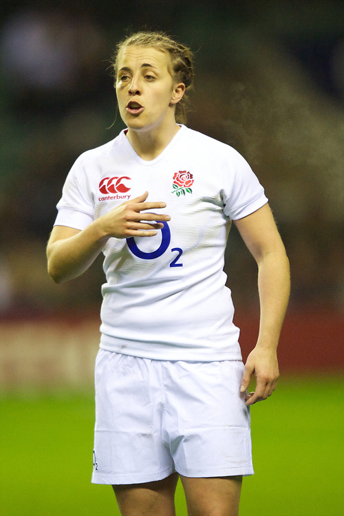 Katy McLean of England Women during the test match between England Women and the Black Ferns at Twickenham on Saturday 01 December 2012 (Photo by Rob Munro)