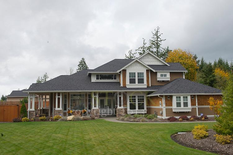 Brown house, with big yard