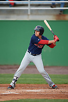 Salem Red Sox left fielder Bryan Hudson (31) at bat during the first game of a doubleheader against the Potomac Nationals on May 13, 2017 at G. Richard Pfitzner Stadium in Woodbridge, Virginia.  Potomac defeated Salem 6-0.  (Mike Janes/Four Seam Images)