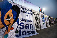 SAN JOSE, CA - SEPTEMBER 13: Earthquakes Stadium banners during a game between Los Angeles Galaxy and San Jose Earthquakes at Earthquakes Stadium on September 13, 2020 in San Jose, California.