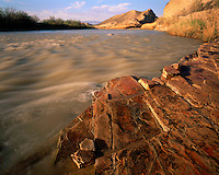 Morning light on the Rio Grande River at Hot Springs; Big Bend National Park, TX