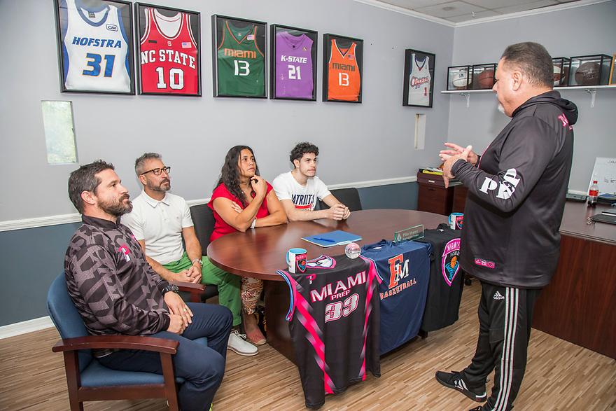 Miami Prep Coaching Staff. Photo by Jesus Aranguren