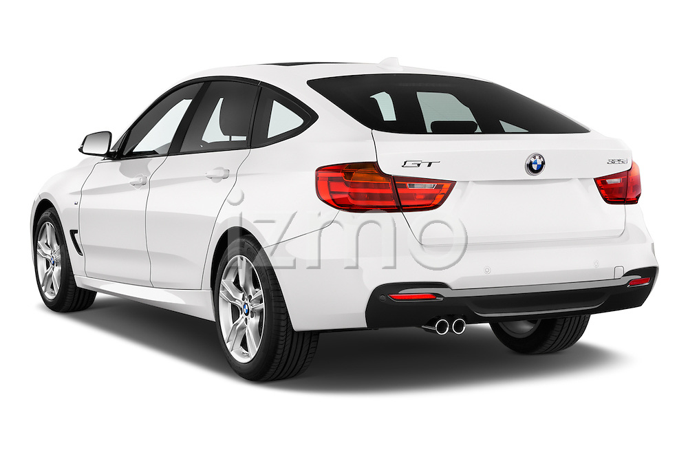 Car pictures of rear three quarter view of a 2015 BMW 3 Series M Sport 5 Door Hatchback 2WD Angular Rear