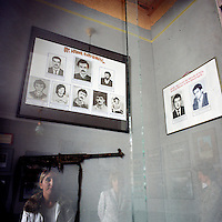 National Museum of Stepanakert. Pictures of the self defense forces during the conflict that fighted on the front line near Martakert between 1988 and 1994.