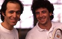 Jean-Jacques GOLDMAN et patrick BRUEL<br /> 1992<br /> © TERRASSON/DALLE