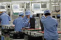 Production line at Lenovo Computer Beijing headquarters..20 May 05