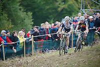 Koppenbergcross 2013<br /> <br /> Klaas Vantornout (BEL) challenging Niels Albert (BEL) for the lead