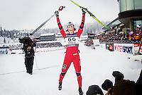 Holmenkollen, 20110228. 10km.  Marit Bjørgen. ski vm holmenkollen oslo. Foto: Eirik Helland Urke / Dagbladet