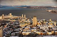 Amérique/Amérique du Nord/Canada/Québec/ Québec: Le Vieux-Québec classé Patrimoine Mondial de l'UNESCO, le port et le fleuve Saint-Laure vus depuis depuis l'Observatoire de la Capitale au  31e étage de l'édifice Marie-Guyart