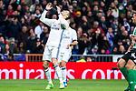 Cristiano Ronaldo of Real Madrid reacts  during the match of Spanish La Liga between Real Madrid and Real Betis at  Santiago Bernabeu Stadium in Madrid, Spain. March 12, 2017. (ALTERPHOTOS / Rodrigo Jimenez)