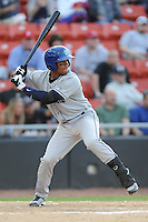 Asheville Tourists Russell Wilson #3 swings at a pitch during a game vs. the Hickory Crawdads at L.P. Franz Stadium in Hickory,  North Carolina;  April 7, 2011.  Hickory defeated Asheville 4-2.  Photo By Tony Farlow/Four Seam Images