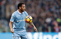 Calcio, Serie A: Lazio vs Roma. Roma, stadio Olimpico, 4 dicembre 2016.<br /> Lazio's Felipe Anderson in action during the Italian Serie A football match between Lazio and Rome at Rome's Olympic stadium, 4 December 2016. Roma won 2-0.<br /> UPDATE IMAGES PRESS/Isabella Bonotto