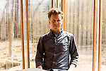 March 20, 2014. Chapel Hill, North Carolina.<br />  MERGE Records co-founder Mac McCaughan at Cafe Driade.