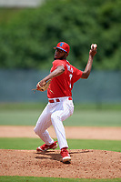 GCL Phillies West pitcher Dalvin Rosario (68) during a Gulf Coast League game against the GCL Tigers West on July 27, 2019 at the Carpenter Complex in Clearwater, Florida.  (Mike Janes/Four Seam Images)