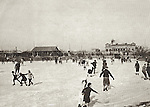 1931: Skating On The Club's Garden Lake.  Somewhere In Amongst The Happy Skaters Is The Photographer's Father, Aged 5.<br />